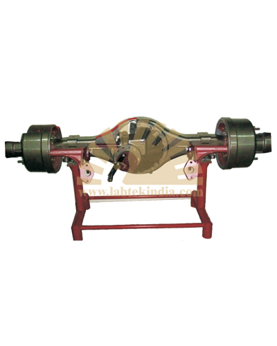 Cut section model of fully floating differential And rear wheel mechanism