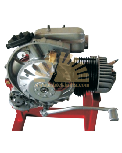 Cut section model of two stroke single Cylinder engine (working)